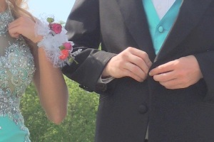 corsage and tux