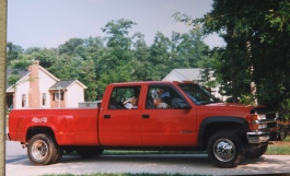 First ride in Dad's big red truck