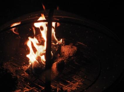 Breaking in the new firepit