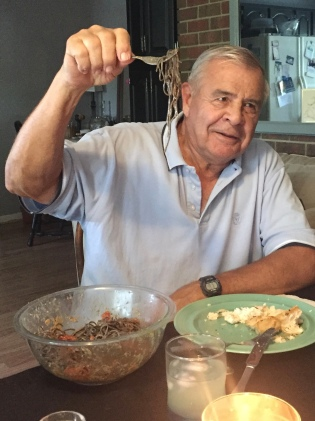 Gramps didn't appreciate the new 'black bean pasta'